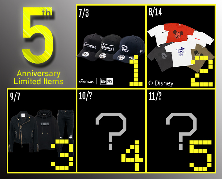 5th ANNIVERSARY LIMITED ITEMS 第3弾