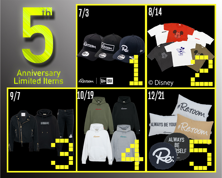 5th ANNIVERSARY LIMITED ITEMS 第5弾