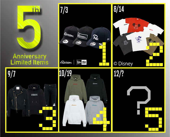 5th ANNIVERSARY LIMITED ITEMS 第4弾